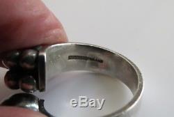 Finnish Modernist Silver Ring by Elis Kauppi Kupittaan Kulta 1960's Finland s 8