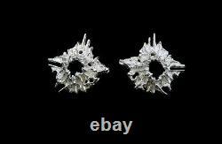 Frank and Regine Juhls Tundra Sterling Silver Earrings Kautokeino Norway
