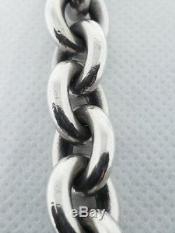 GEORG JENSEN Chunky Oval Link Sterling Silver Bracelet No. 140 A 83.2 grams 925 s