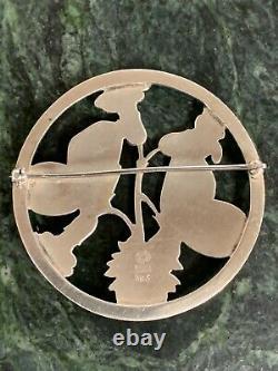 GEORG JENSEN Sterling Silver 925 Butterfly Brooch #283 Denmark -Ships Free