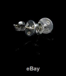 GEORG JENSEN Sterling Silver Stud Earrings # 8 with Silvelball. Harald Nielsen