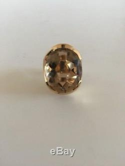 Georg Jensen 18K Gold Ring No. 812 with Quartz