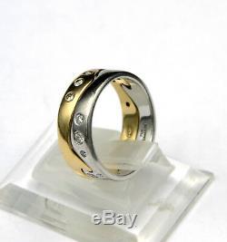 Georg Jensen 18 Karat Gold Fusion Ring with Diamonds NK55