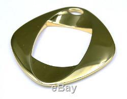 Georg Jensen 24 Carat Gold Plated Large Pendant Henning Koppel #368B