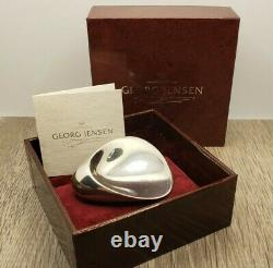 Georg Jensen 328 NJ Nanna & Jorgen Ditzel Modernist Sterling Brooch Pin In Box