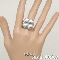 Georg Jensen 4 Leaf Clover #'d 387 Denmark 925S Sterling Silver Ring 6.5 Vintage