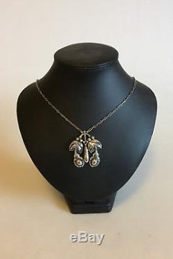 Georg Jensen 830 Silver Art Nouveau Necklace with Silverstones No 26