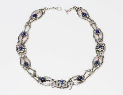 Georg Jensen 830 Silver Lapis Necklace No. 1