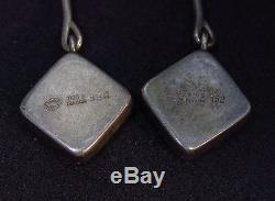 Georg Jensen Astrid Fog Mod Sterling Silver 925 Pierced Earrings Denmark