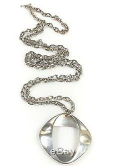 Georg Jensen Denmark #368 MID Century Sterling Pendant Necklace