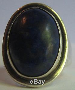 Georg Jensen Denmark 46 A Vintage Sterling Silver Lapis Ring