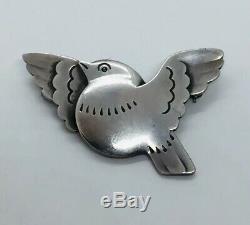 Georg Jensen Denmark Antique Sterling Silver Dove Bird Pin #320