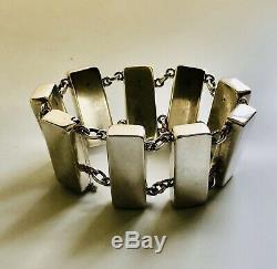 Georg Jensen Denmark Sterling Silver Bracelet #184, Astrid Fog Design
