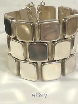 Georg Jensen Denmark Sterling Silver Bracelet #193, Astrid Fog Design