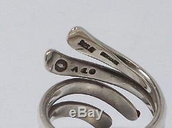 Georg Jensen Denmark Sterling Silver Modernist Andreas Mikkelsen Ring #A10, 7.5