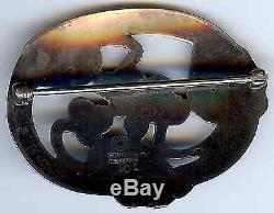 Georg Jensen Denmark Vintage Moonlight Grapes Sterling Silver Pin Brooch