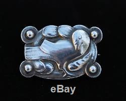 Georg Jensen Denmark Vintage Sterling Silver Bird Brooch/pin #198