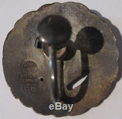 Georg Jensen Denmark Vintage Sterling Silver Dove Bird Screwback Earrings