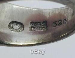 Georg Jensen Denmark Vintage Sterling Silver Heart Ring Size 7