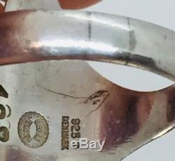 Georg Jensen Denmark Vintage Sterling Silver Koppel Modernist Ring Size 7.5 #128