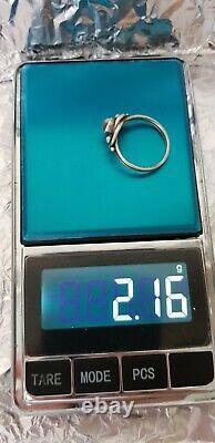 Georg Jensen Denmark Vintage Sterling Silver Ring with Moostone #5