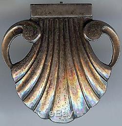 Georg Jensen Denmark Vintage Sterling Silver Shell Design Pin Brooch