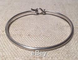 Georg Jensen Denmark Vivianna Torun Sterling Silver Hook & Eye Bracelet #212