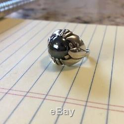Georg Jensen Hematite Ring Size 6.5