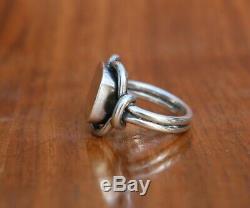 Georg Jensen Modernist Sterling Silver Ring #27A Size 8