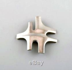 Georg Jensen. Modernist brooch in sterling silver. Design number 360