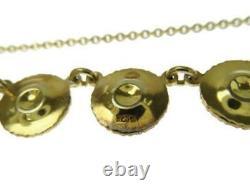 Georg Jensen Necklace Pendant Daisy White Enamel #12808