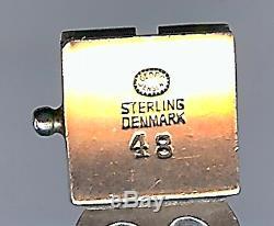 Georg Jensen Oscar Gundlach-pedersen Denmark Vintage Sterling #48 Deco Bracelet