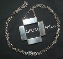 Georg Jensen Pendant Necklace #379 Sterling Silver 925 Astrid Fog