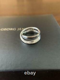 Georg Jensen Ring Mobius Double Ring For Ladys Sterling Silver Denmark #13426