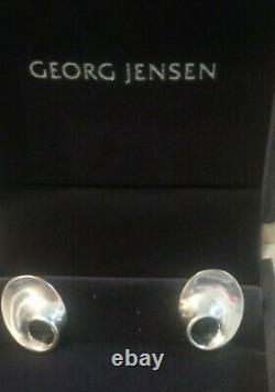 Georg Jensen Silver Moebius Earrings Vivianna Torun