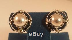 Georg Jensen Sterling Denmark #91 Earrings