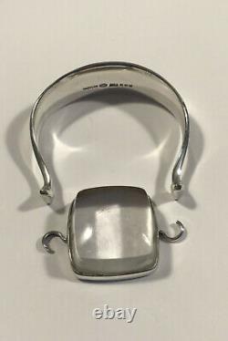 Georg Jensen Sterling Silver Arm Ring No 203 with Rutile Quartz Torun