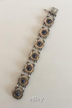 Georg Jensen Sterling Silver Bracelet #36 with Lapis Lazuli