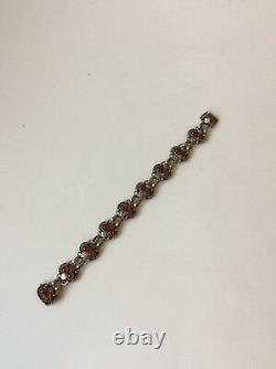Georg Jensen Sterling Silver Bracelet with Carnelians No 8