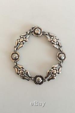 Georg Jensen Sterling Silver Bracelet with Flower Links No 18