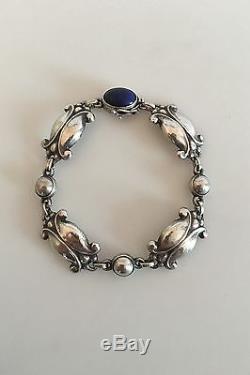 Georg Jensen Sterling Silver Bracelet with Lapis Lazuli #11