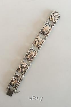 Georg Jensen Sterling Silver Bracelet with Swans #42