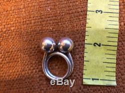 Georg Jensen Sterling Silver Bypass Ring Denmark Bent Knudsen (Designer) Sz 6