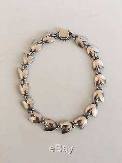 Georg Jensen Sterling Silver Choker Necklace #66