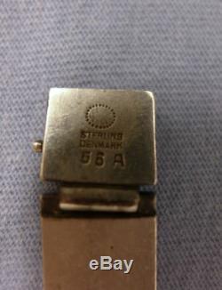 Georg Jensen Sterling Silver Chrysoprase Bracelet #56A Henry Pilstrup