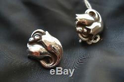 Georg Jensen Sterling Silver Earrings #100