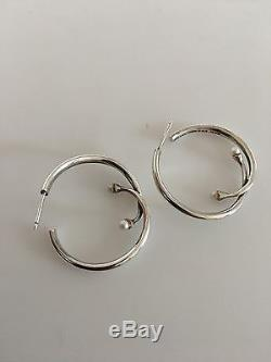 Georg Jensen Sterling Silver Earrings No. 288 designed by Torun