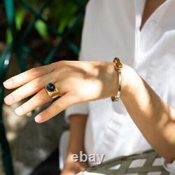 Georg Jensen Sterling Silver & Gold Vermeil Bracelet and Neck Ring Ensemble No