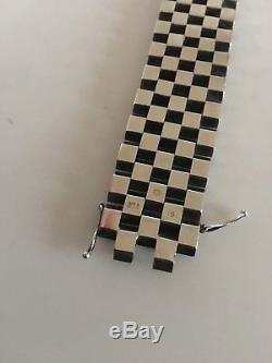 Georg Jensen Sterling Silver Modernist Bracelet No. 191 by Ernst Forsmann