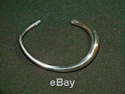 Georg Jensen Sterling Silver Offspring Bangle Bracelet Size L